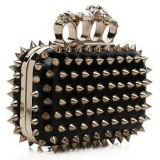 Sparkling New Studs Spikes Wedding Prom Clutch Evening Bag Party Shoulder Bags