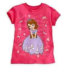 Disney Store Sofia The First NWT Short Sleeve Pink T-shirt Size 4 5/6