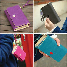 SALE Card Wallet Leather Purse Bag Case Cover For Samsung Galaxy S2 S3 Iphone 4S