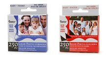 PHOTO CORNERS - Self Adhesive - 250/box - CHOOSE CLEAR OR BLACK