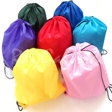 School Sports Drawstring Bag Book Bag Lunch Gym Swim PE Dance Shoe Backpack New