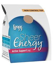 L'eggs Sheer Energy Active Support Regular, Sheer Toe Pantyhose 4pk style 67608