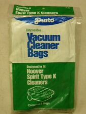 "NOS! LOT of (6) HOOVER SPIRIT TYPE ""K"" CANISTER VACUUM CLEANER BAGS"