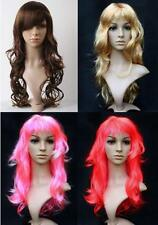 UK Stunning Womens Long Curly Wavy Wig Ladies Girls Cosplay Costume Party Fancy