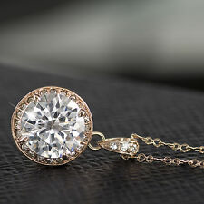 18k gold plated necklace use genuine SWAROVSKI crystal pendant