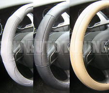 Leather Steering Wheel Cover Black Beige Grey Hyundai Accent Atos Elantra Pony
