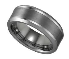 Geraud Men's Tungsten Brushed Finish 8mm Comfort Fit Wedding Band Sz 7 to 14