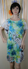 NWT STYLE & CO green floral Bat wing sleeve gathered tie side tunic dress,XS,L