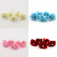 New Girls Crystal Hairpin Clip Chrysanthemum Pattern Beauty Fit  Bridal Wedding