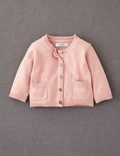 Mini Boden Baby Brand New Baby Cardigan Pale Pink Soft Cashmere Blend Girl's