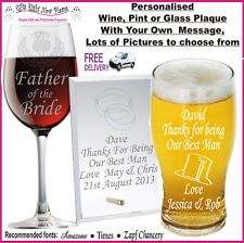 Personalised Engraved Glass Plaque Birthday Father's Day Gift SG1