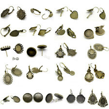 Cabochon Settings Earring Clips Bronze Tone M1433 Pop & Various Styles