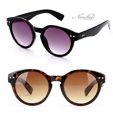 2 Pack Key hole Style Dapper Fashion Rounded Sunglasses Black Tortoise Retro