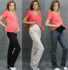 Maternity Pregnancy Trousers Skinny Jeans Pants Denim Over Bump 8 10 12 14