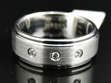 Mens Shiny Cobalt Faceted Wedding Engagement Band Ring 8 mm
