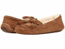 Ugg Australia Mandie Moccasin Chestnut 1003799 Genuine Sheepskin Women Shoes NEW