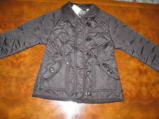 Bnwt NEXT Girls Black Fleece Lined  Quilted  Jacket Coat  3-4-5-6-7-8 yrs