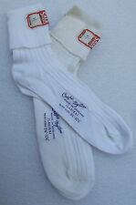 Crepe nylon ladies' ankle socks Vintage 1960s UNUSED adult women's shoe size 5-7