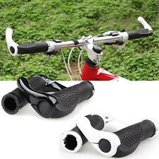 Mountain Bicycle Bike Cycling Lock-On Handlebar Hand Bar End Grips Black/White