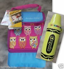 Arctic Zone Microban Insulated Lunch Pack Cooler Bag & Crayola Thermo 2pc Set