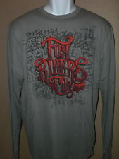 New mens Fox Racing long sleeved thermal shirt gray NICE!!!