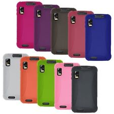 NEW AMZER SILICONE SOFT SKIN JELLY CASE COVER FOR MOTOROLA ATRIX 4G MB860