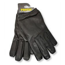 Protec kevlar anti slash fire resistant black leather gloves security SIA.