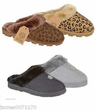 Ladies slippers slip on shoes mules womens girls spa bed slippers size 3 4 5 6 7