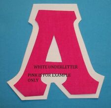 White DOUBLE LETTER fabric Iron On Greek Letters Sorority Alpha Omega all U Pick