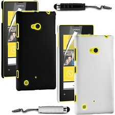 HARD BACK SKIN CASE COVER, LCD FILM & STYLUS PEN FOR NOKIA LUMIA 720