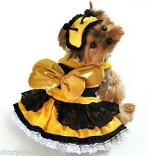 Pet Dog Cat Honey Bee Halloween Xmas Gift Fancy Dress Costume Outfit Clothes