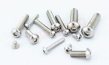 100pcs Metric Thread M3 Stainless Steel Button Head Hex Socket Cap Screws Bolts