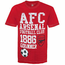 Arsenal FC Official Football Gift Infants Graphic T-Shirt Red (RRP £9.99!)