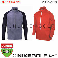 NIKE MENS DRI-FIT SPORT FABRIC-MIX HOODIE RED WIND PROOF - GOLF TOP JACKET WATER