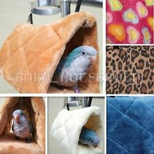 Cute Parrot Hammock Hut Hideaway Fluffy Cave Bed Cage Snuggle Tent Bunk Bird Toy