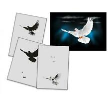 Step by Step Airbrush Stencil AS-193 Taube ~ Template ~ UMR-Design