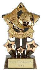 FOOTBALL SOCCER STAR TROPHY INC ENGRAVING Choice of Gold, Silver or Bronze NEW