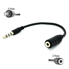 2.5MM FEMALE TO 3.5MM MALE HEADSET HEADPHONES ADAPTER CONVERTER for AT&T PHONES