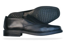 Geox Londra E Mens Leather Slip On Shoes - Black - See Sizes