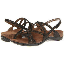 NIB NEW Dansko Jovie Coffee Swirl Strappy Sandal Black Brown Women Sz 8/8.5 $135