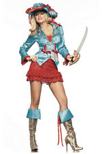 S/M/L Complete Sexy Pirate Costume Dress Hat Jacket Sword & Boot Toppers