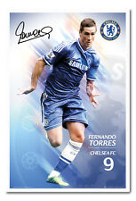 Framed Chelsea FC 2013 - 2014 Torres Poster Ready To Hang Frame