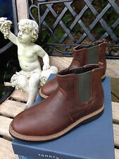 TOMMY HILFIGER Kids' Shoes Boots sz 13-5 (Brown/Olive) UNISEX Vegan Leather