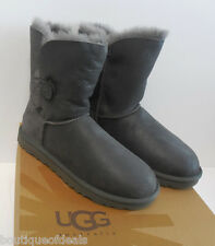 UGG Australia Womens Bailey Button Bomber Boots 5838 BJG Grey New & Authentic