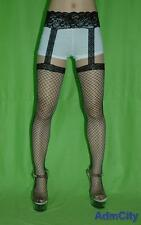 Admcity Industrial Net Garterbelt Stockings Black One Size