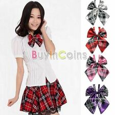 Hot New Fashion Man Plaid Satin Multistyle Wedding Party Necktie Casual Bow Tie