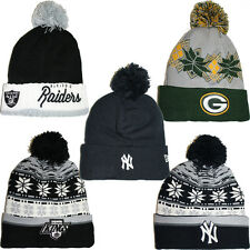 NEW ERA WOOLY HATS - MENS BOYS GIRLS FOLD-UP BEANIE WINTER WOOLY CAPS HATS