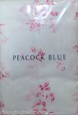 PEACOCK BLUE PINK OR BLUE ROSES FLANNELETTE SUPERKING 50x90cm PILLOWCASE PAIRS