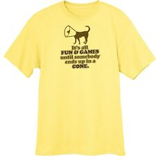 Dog Fun and Games Funny Novelty T-Shirt  Z13461