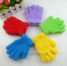3-6 years Baby Children Candy Color Polyester Full Finger Gloves Thermal Gloves